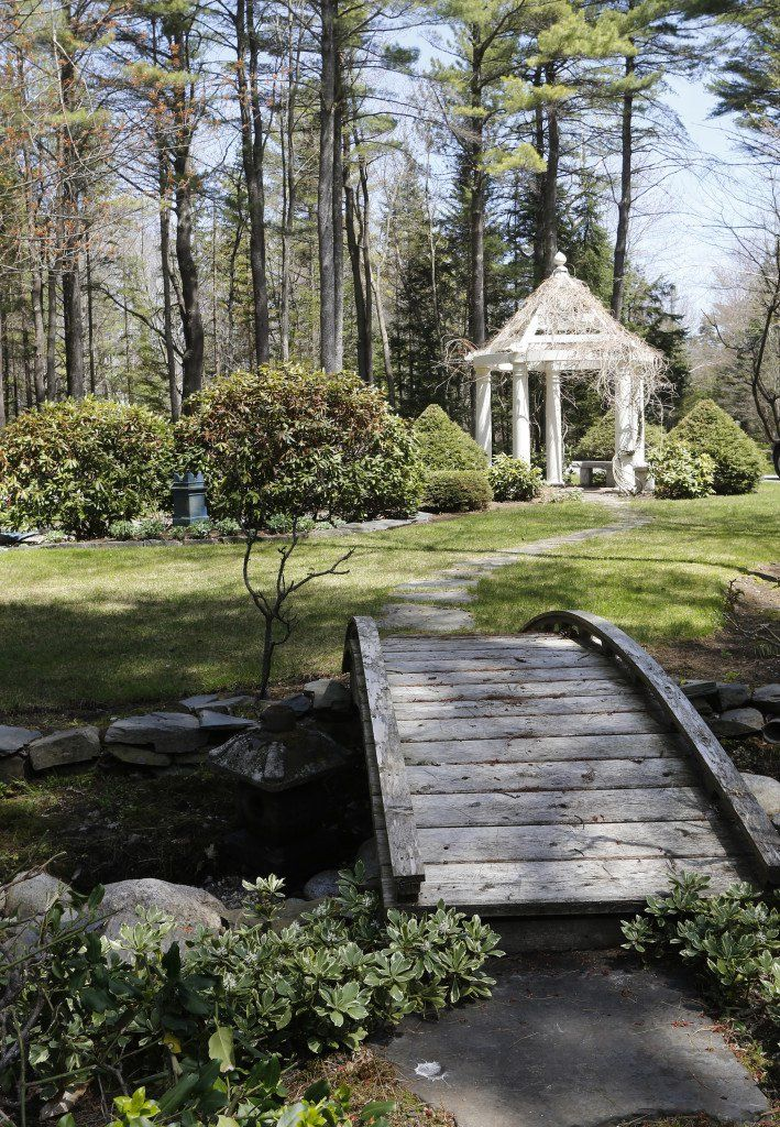 Little house 9 ft. arched bridge with small curbing. Maine Real Estate | Portland Press Herald | Little Houses | May 13, 2015 | Scarborough, Maine.