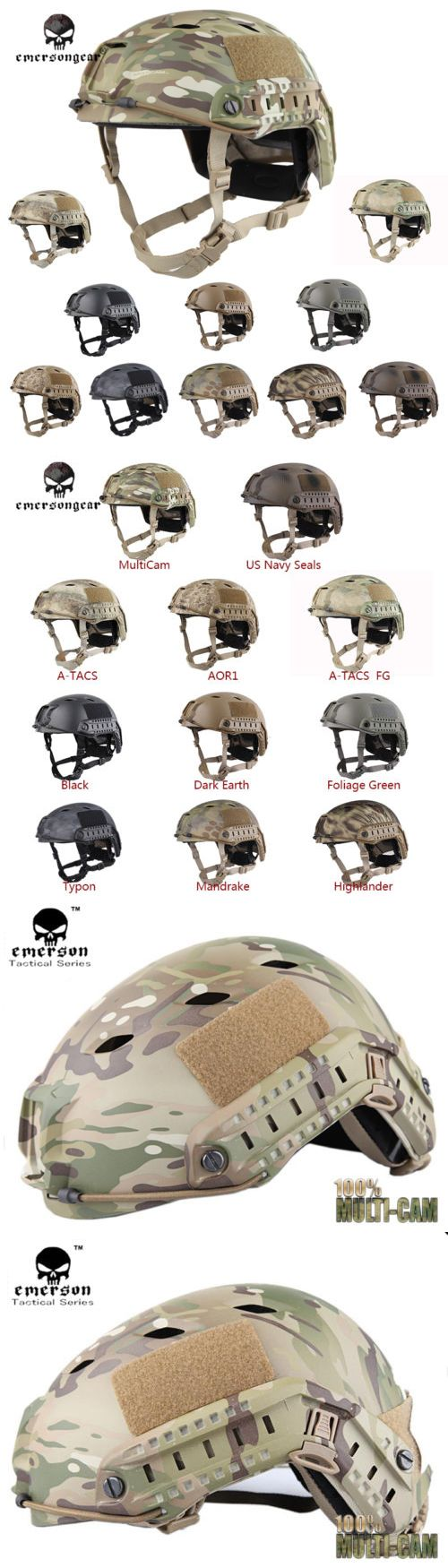 Hats and Headwear 177892: Emerson Fast Helmet Bj Type Tacitcal Outdoor Airsoft Headwear Mc Black De 5659 -> BUY IT NOW ONLY: $51.73 on eBay!