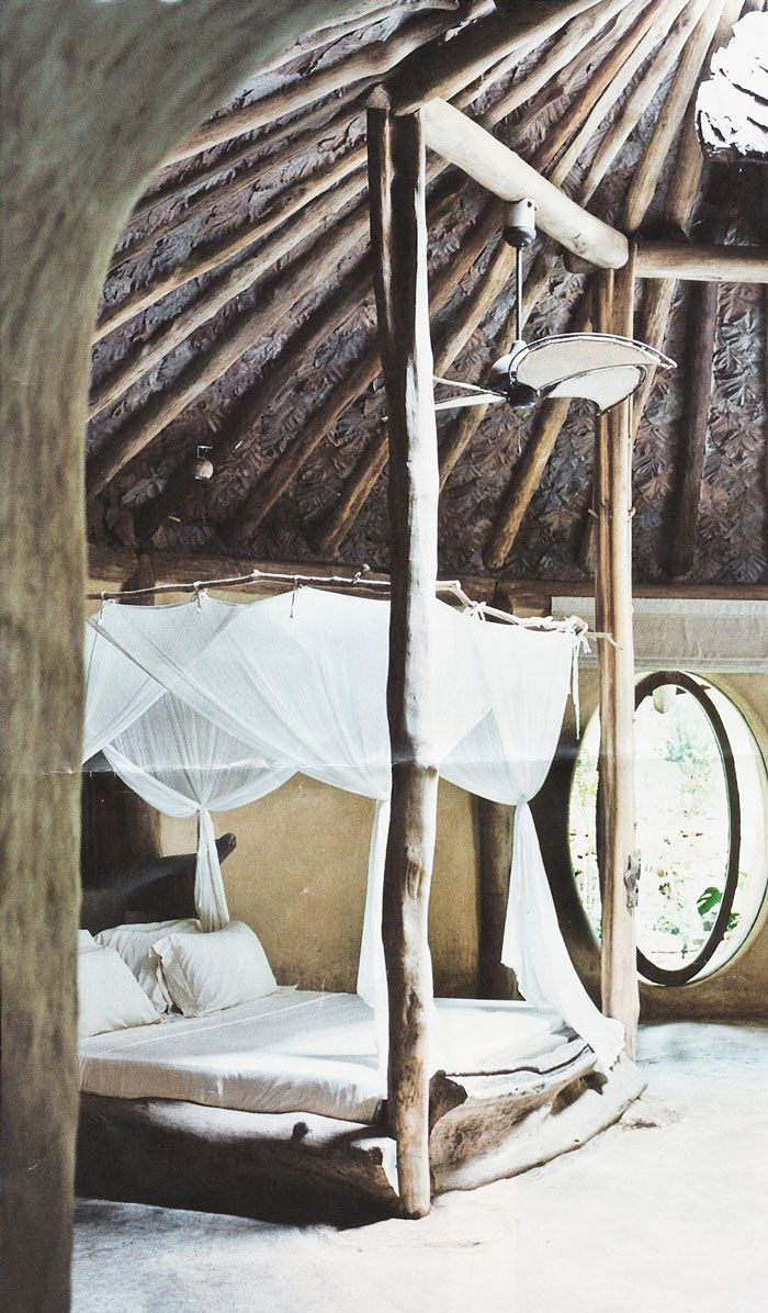 tree branch bedroom - I would love to live here! That circle revolving window is amazing