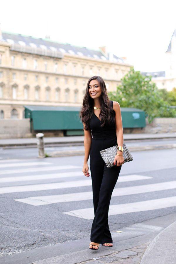 Black Jumpsuit Along Le Seine
