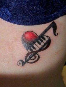25 Εντυπωσιακές ιδέες για #Tattoo μουσικής! #τατουάζ #music