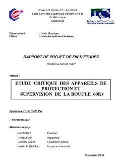 Exemple de rapport de stage fin d'étude génie électrique - société OCP Maroc