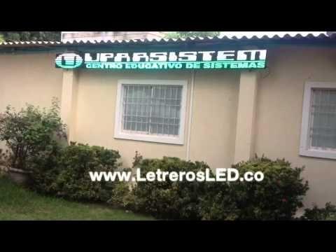Pantalla LED 32x480. Informador LED. Publicidad 100% Efectiva - Letreros LED, Avisos LED, Pantallas LED Programables. Colombia - www.LetrerosLED.co