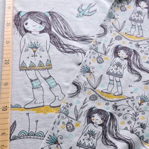 bio jersey mangagirls gots susalabim bio jersey stoffe kinder stoffe pinterest. Black Bedroom Furniture Sets. Home Design Ideas