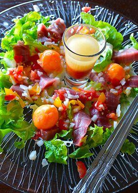 まぐろと冷凍卵のカルパッチョ仕立てサラダ|レシピブログ