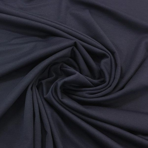 Top Quality Black Ponteroma 4 Way Stretch Jersey Dressmaking Fabric