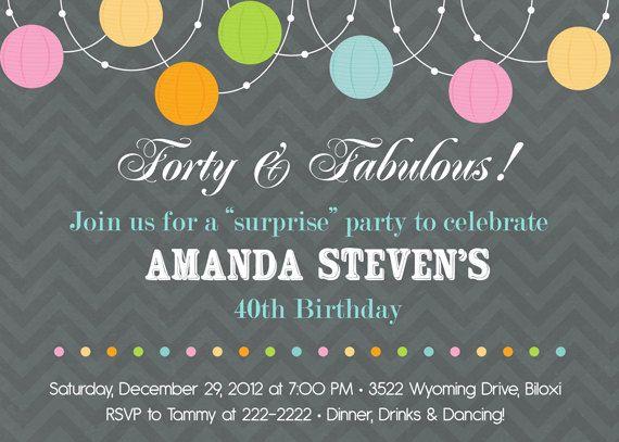 328 best Birthday Invitations Adult images on Pinterest Birthday