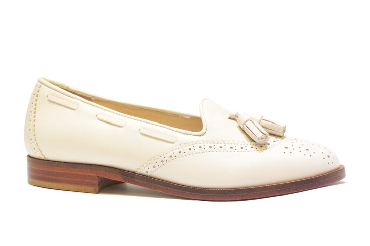 white tassel loafer. Say hello to Spring!