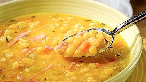 Soupe aux pois et jambon
