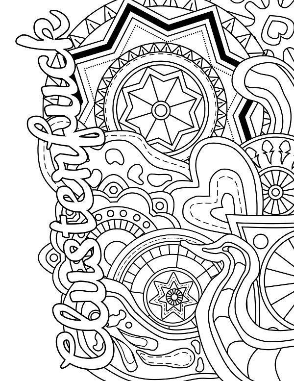Mandala - Adult Coloring page - swear. 14 FREE printable ...
