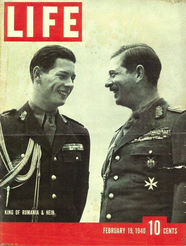 Life magazine, February 1940 - The King of Romania King Carol II and his Heir Crown Prince Michael