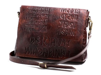 shoulder bag mod. Shakespeare in naturally tanned leather