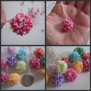 Mini Pom Pom - from bakers twine