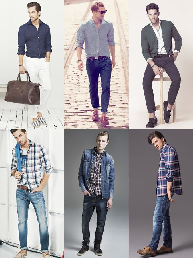 Мужские рубашки в стиле кэжуал