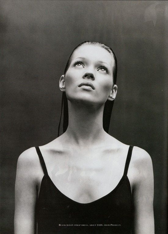 Kate Moss by Patrick Demarchelier Harper's Bazaar July 1993