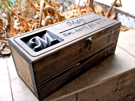 Personalized Wine Bottle Box,Wedding wine box, anniversary gift, wedding shower gift, First Fight Box (CWD-41)