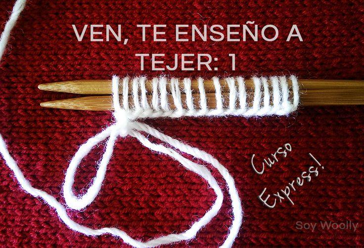 Un curso express, online y gratuito para aprender a tejer con dos agujas (o a hacer punto, con palillos...como quieras llamarle): fácil y rápido (estilo continental o inglés)!