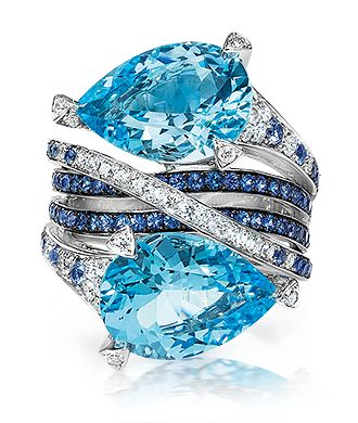 Cellini Jewelers | La Beℓℓe ℳystère Blue topaz. Omg, adore.