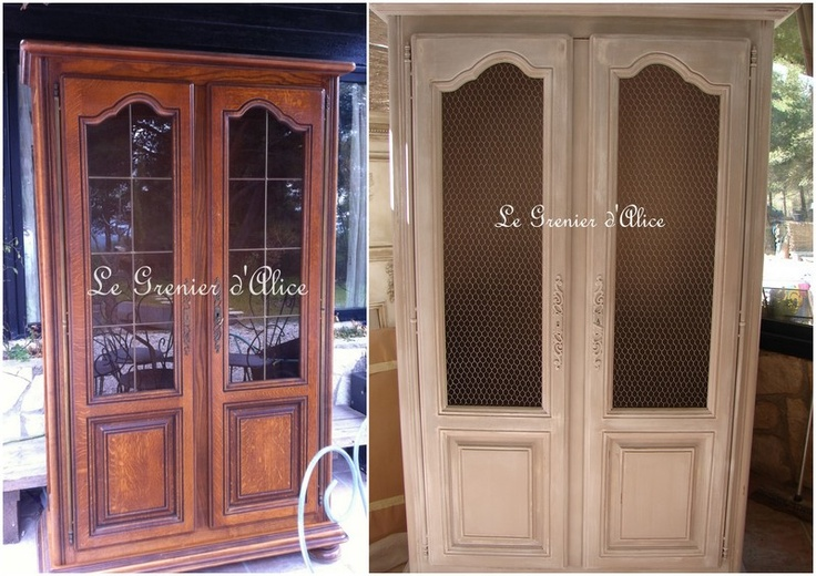 8 best relooking images by sophie du grenier d 39 alice on - Relooking armoire ...