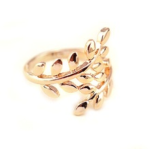 Personality olive branch ring finger ring South Korea adorn article female J025 gift