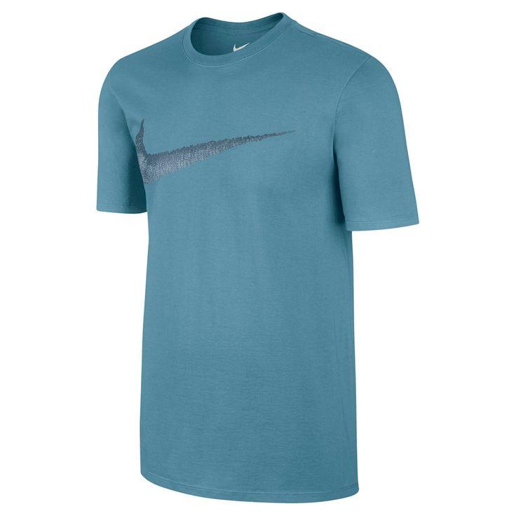 Men's Nike Swoosh Logo Tee, Size: Small, Turquoise/Blue (Turq/Aqua)