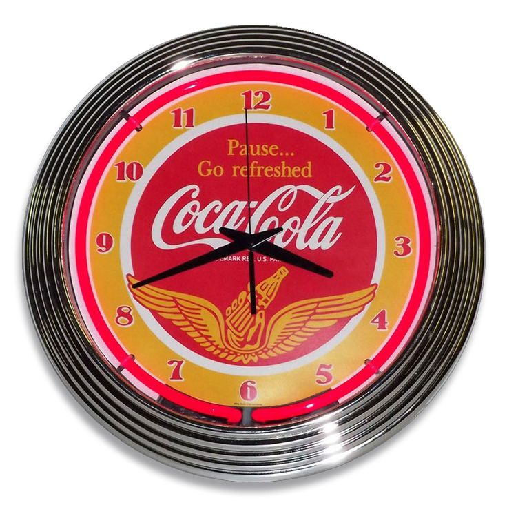 A retro design and vintage Coke slogan give the Coca-Cola