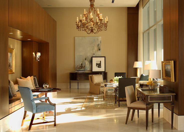 A Custom Rive Gauche Chandelier Without Beads In The Ritz Carlton Residence Atlanta Brown InteriorInterior Design