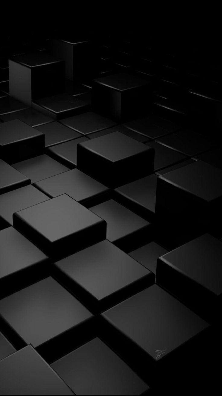 Black Cubic Wallpaper Black phone wallpaper, Phone