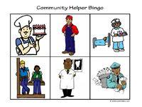 Community Helper BINGOIdeas, Free Download, Community Lessons, Bingo Games, Helpers Activities, Helpers Bingo, Community Helpers, Free Printables, Cards