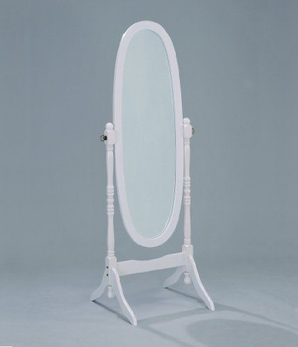 White Finish Cheval Mirror by Crown Mark Crown Mark | Pretty Little Liars