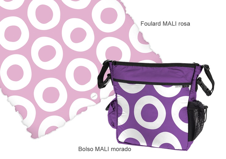 Foulard y Bolso MALI. Colores varios.  Foulard 105 x 120 cm. múltiples utilidades para la silla de paseo, la minicuna y la cuna.  Bolso para colgar en la silla o para llevar en bandolera
