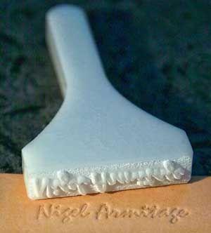 Artisans.co.uk :: Custom Mallet Stamp price guide  For baked goods......omg.