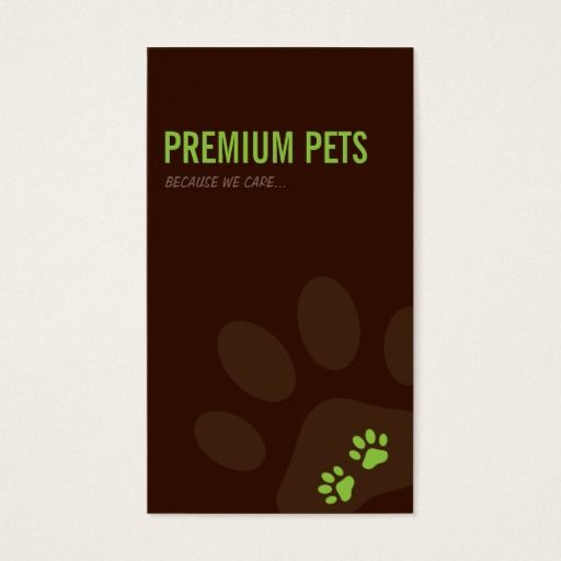 254 best pet care business cards images on pinterest business professional business card pet care lime green reheart Choice Image
