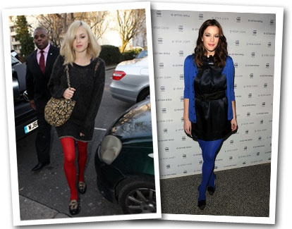 Coloured Tights! Get the celeb look for half to cost- http://www.stockingirl.com/stockings/USAT5.html