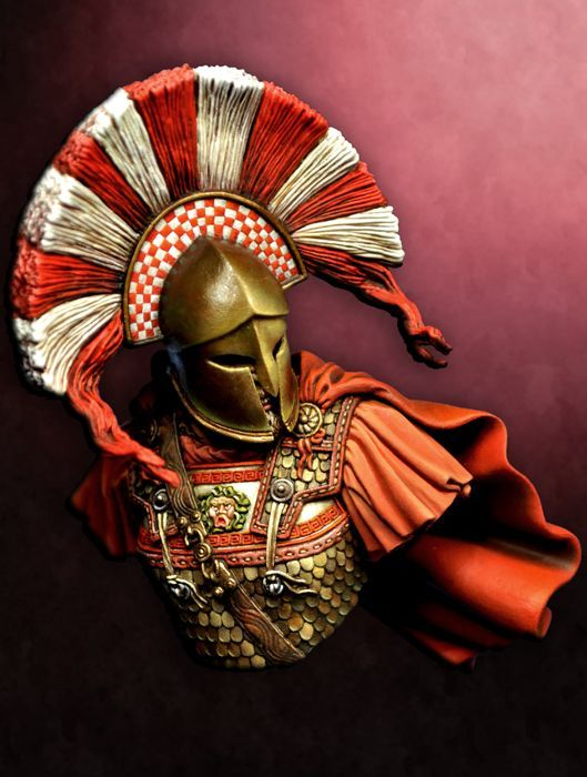 A roman helmet and a naughty brunette 9