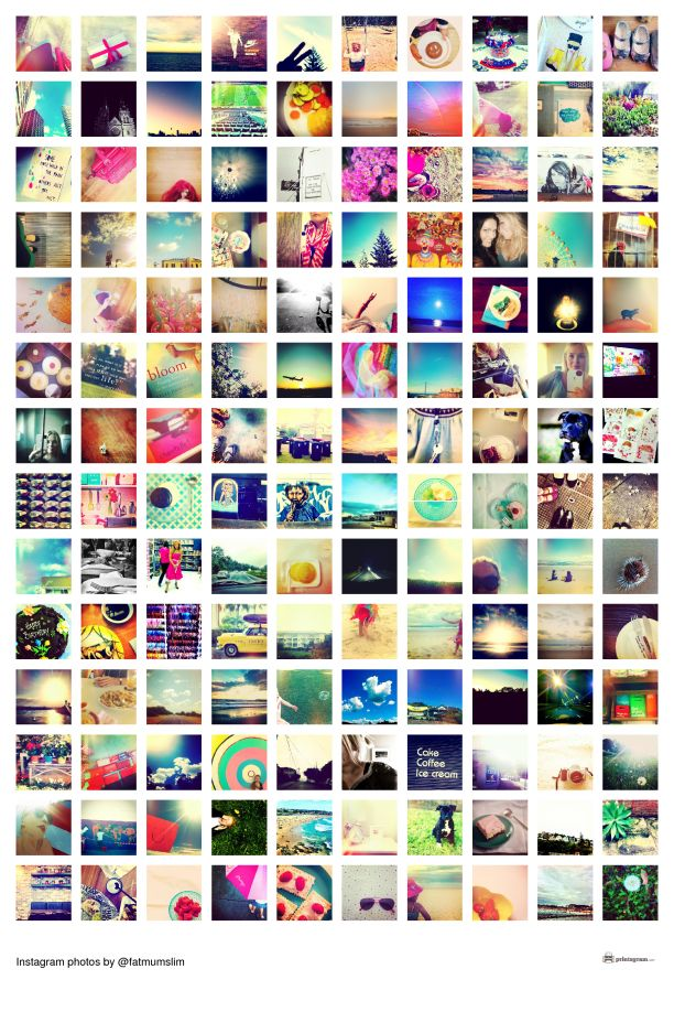 How to create a collage poster with your Instagram photos