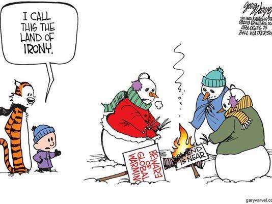 calvin and hobbes snowmen - Google Search