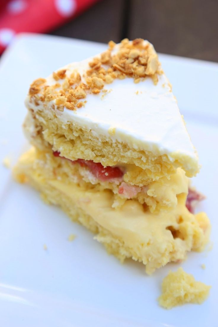 Custard-Filled Victoria Sponge Layer Cake   Recipe ...