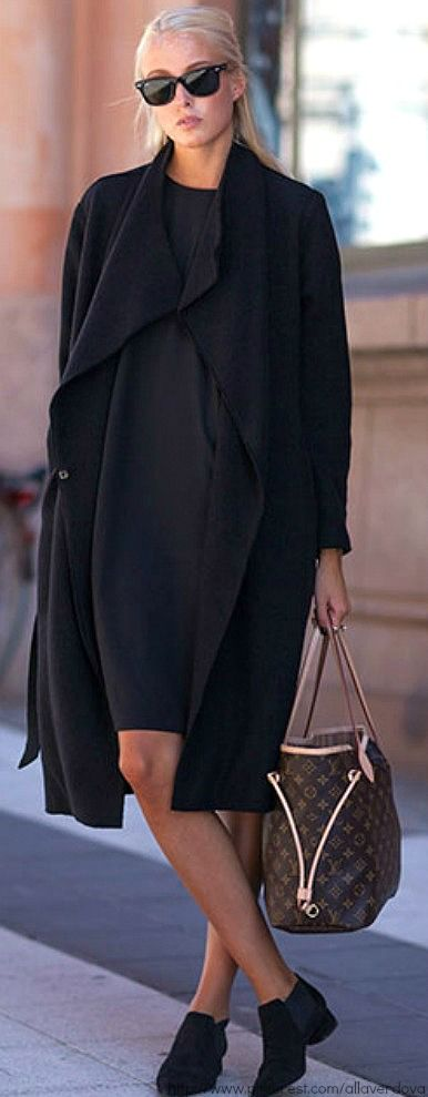 simply elegant, casual, black, LV bag