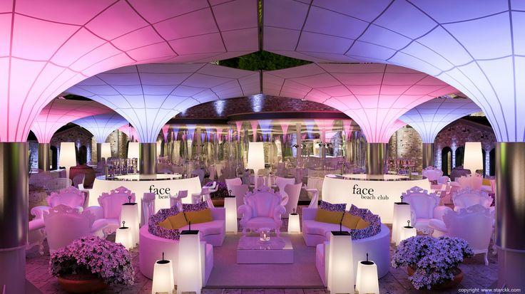 render/infografía 3d restaurante terraza de verano / beach club realizado por www.starckk.com