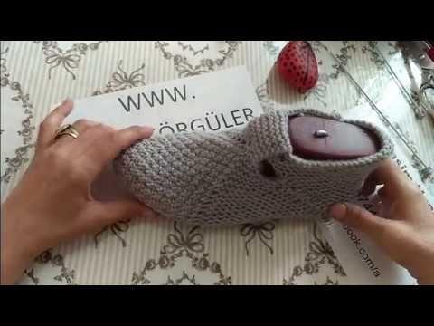 Çok Kolay Bay ve Bayan Patik Modeli - Anlatımlı Yapılışı - Örgü Dantel Oya El İşi - YouTube