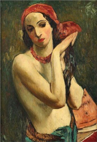Red Muslin - Ion Theodorescu-Sion