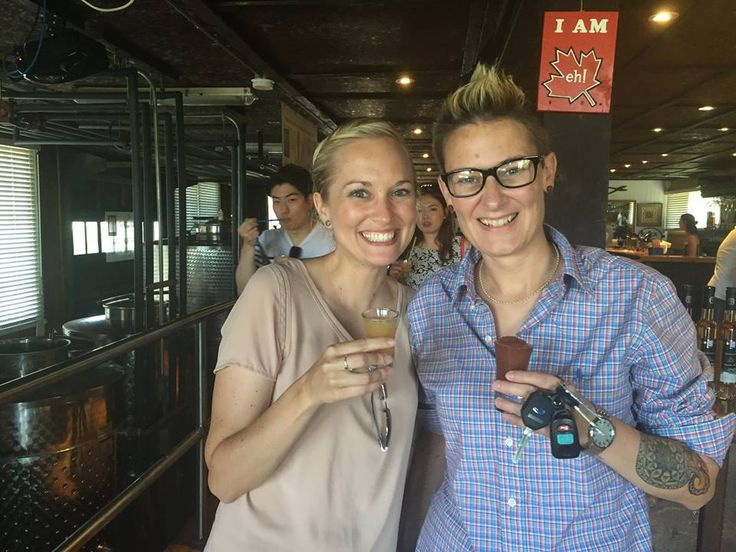 The happy couple with our delicious Vidal and Cabernet Icewine Slushies