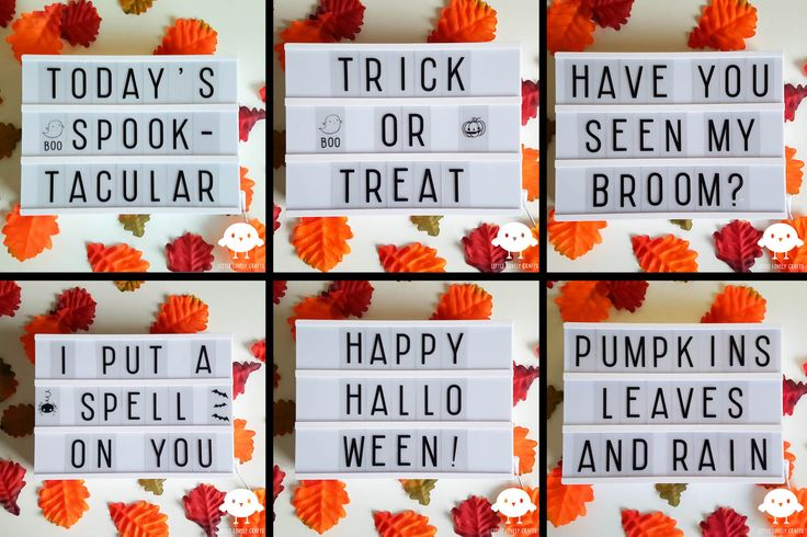 Lightbox ideas for Halloween