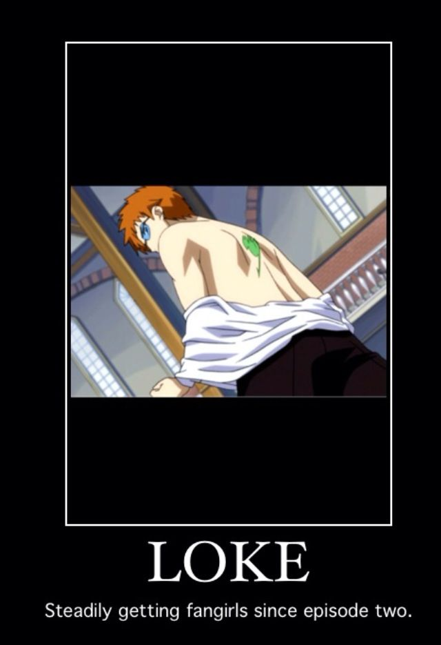 One of them being me. O.o (Fairy Tail Leo(Loke) meme)
