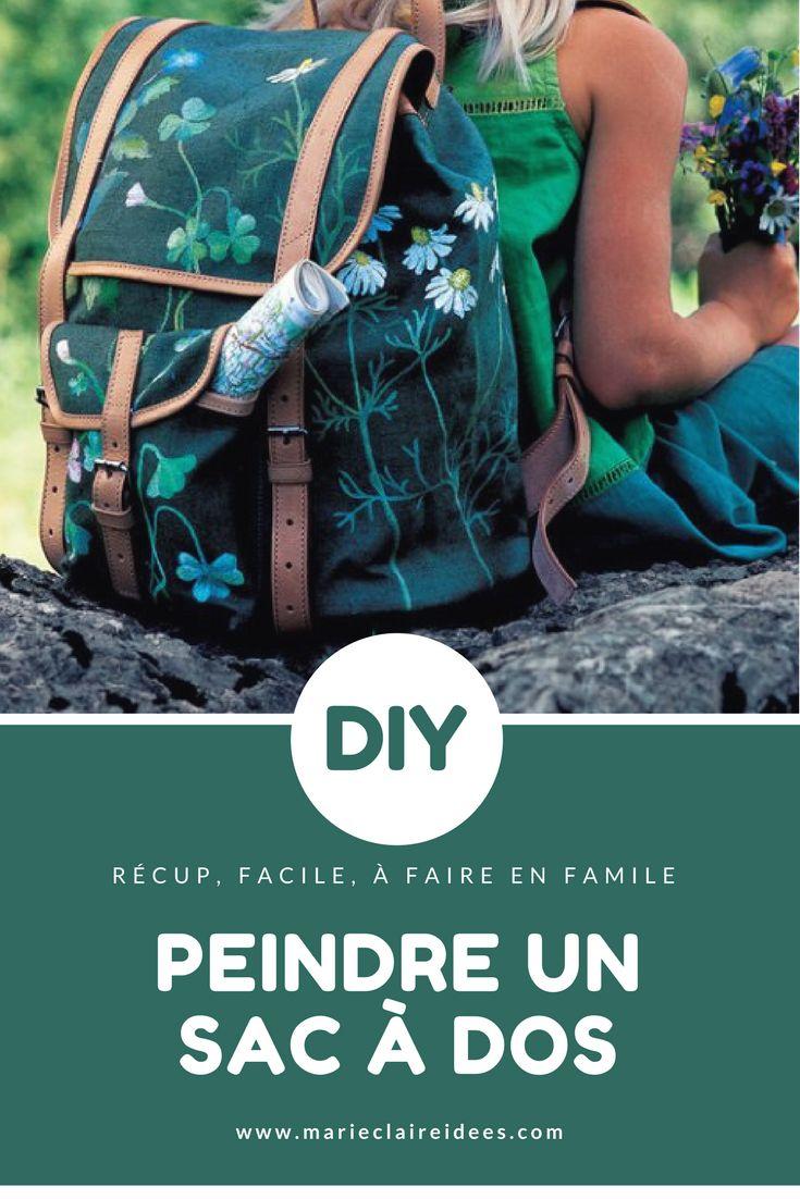 Au lieu de jeter un vieux sac à dos, on lui donne une nouvelle vie avec un peu de peinture - customiser un sac, DIY enfants - Marie Claire Idées