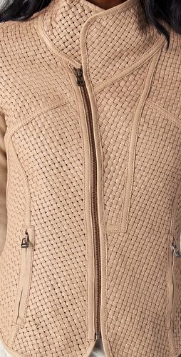 ONE by Improvd Woven Leather Jacket