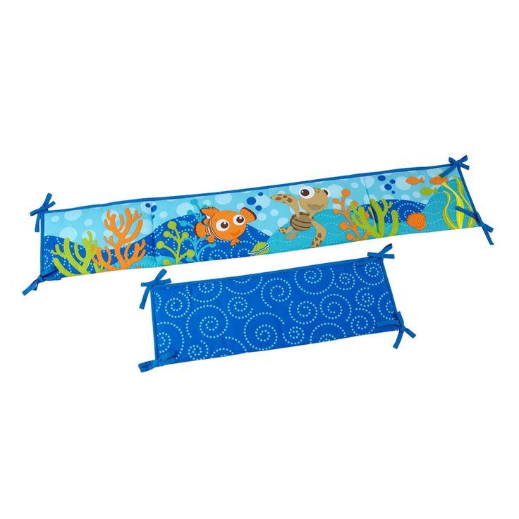 Bumper compañero del BeddingSet de Nemo para niño. Consta de 4 piezas, dos cortas de 24x67cm y dos largas de 24x128cm Visitanos www.mybabydeco.com o escribenos info@mybabydeco.com