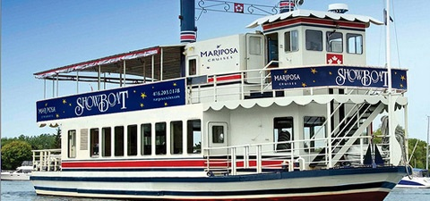 """Showboat"" is currently under renovation. It was a floating theatre in Toronto for several years before joining the Mariposa fleet in 1993!"