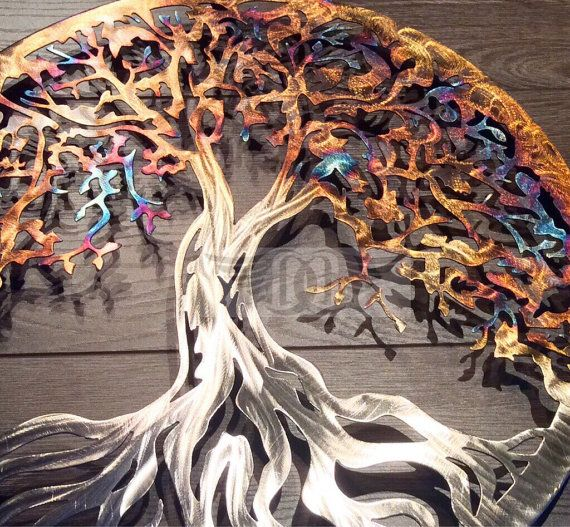 Anniversary Stainless Steel Tree Of Life Wall Decor Wall